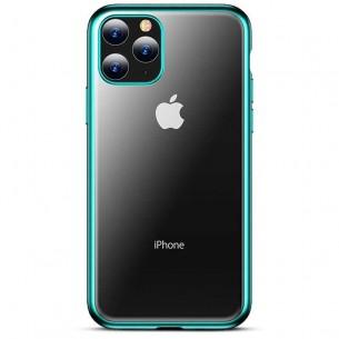 iPhone 11 Pro - Coque TPU TOTU Design Concise Series - Fond Transparent avec Contour Couleur