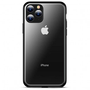 iPhone 11 Pro Max - Coque TPU TOTU Design Concise Series - Fond Transparent avec Contour Couleur
