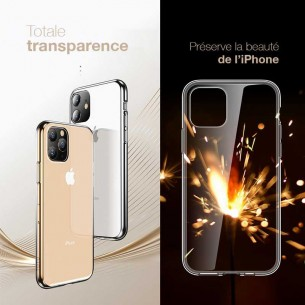 iPhone 11 - Coque TOTU Design Transparente en Silicone Souple