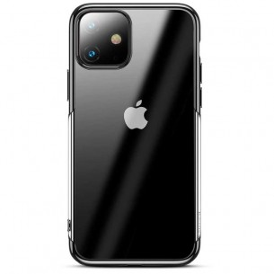 iPhone 11 - Coque BASEUS Shining Series - TPU Souple Transparent - Contour Galvanisé