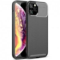 iPhone 11 Pro - Coque TPU avec Revêtement Façon Carbone