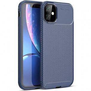 iPhone 11 - Coque TPU avec Revêtement Façon Carbone