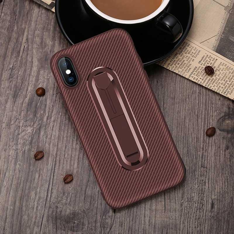 iPhone XS Max - Coque Chevalet Effet Carbone