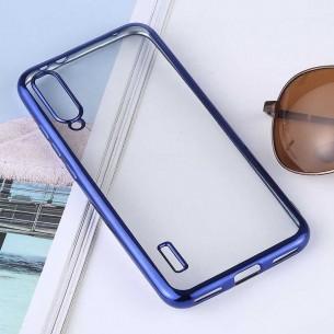 Xiaomi Mi A3 - Coque Transparente Contour Couleur - TPU Souple