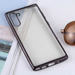 Galaxy Note 10 - Coque Transparente Contour Couleur - TPU Souple
