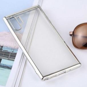 Galaxy Note 10 Plus - Coque Transparente Contour Couleur - TPU Souple