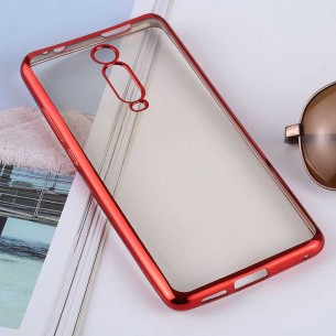 Xiaomi Mi 9T & 9T Pro - Coque Transparente Contour Couleur - TPU Souple