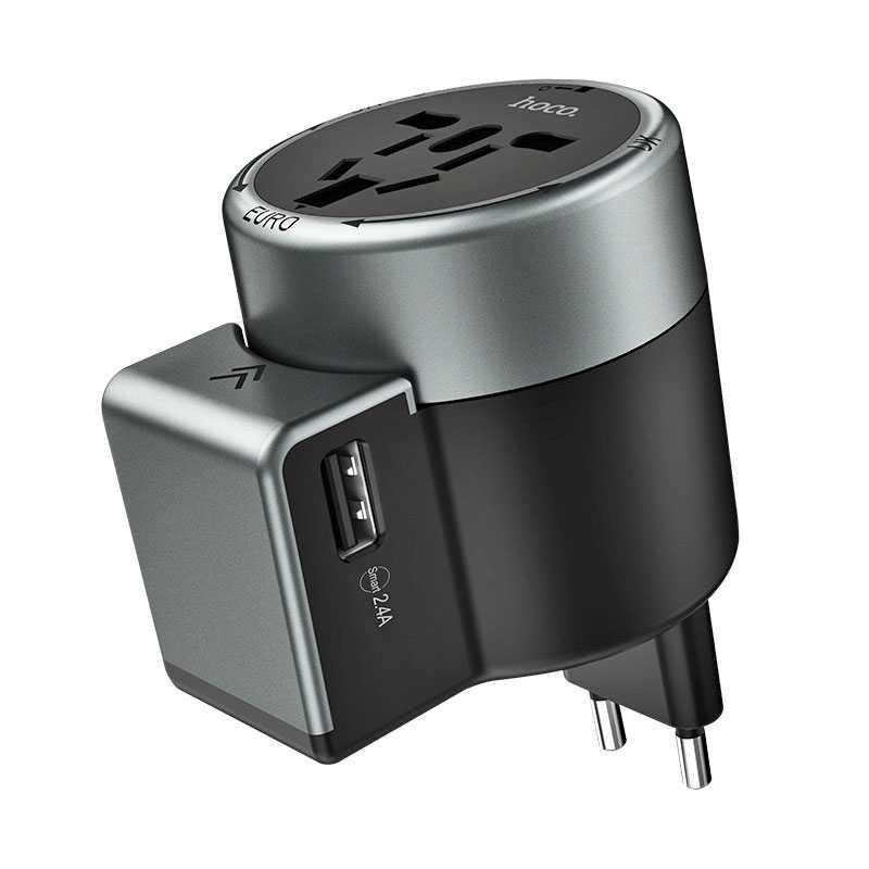 Adaptateur Universel HOCO AC4 avec 2 Ports USB 2.4A