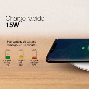 Chargeur induction HUAWEI CP60 - Charge Rapide 15 Watts - Câble USB-C Inclus
