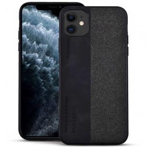 iPhone 11 - Coque Double Matière Tissu & Simili Cuir