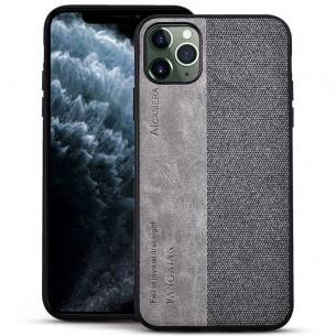 iPhone 11 Pro Max - Coque Double Matière Tissu & Simili Cuir
