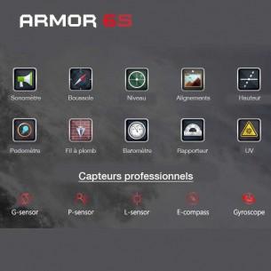 ULEFONE Armor 6S - Écran 6,2' Full HD+ OctaCore Ram 6GB Rom 128GB WiFi Bluetooth NFC Dual Cam Face ID Batterie 5000 mAh