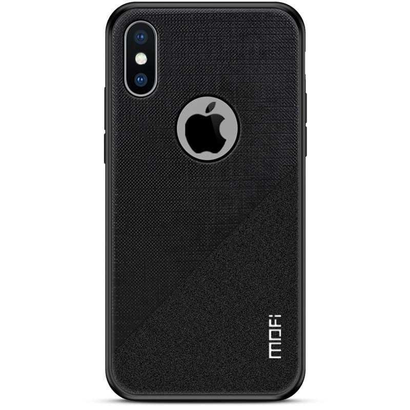 iPhone XS Max - Coque MOFI Revêtement Tissu Double Texture