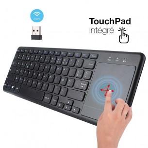 Clavier Sans Fil L200 avec TouchPad Intégré - Connexion Radio 2,4Ghz - Touches Françaises AZERTY