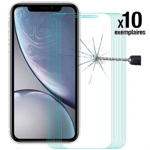 iPhone XR - Pack ENKAY 10 Protections d'Écran En Verre Trempé 9H 2.5D Bords Incurvés