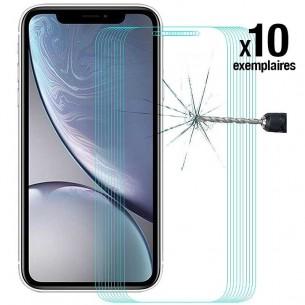 iPhone XR - Pack ENKAY 10 Protections d'Écran En Verre Trempé 9H 2.5D Bords Incurvés