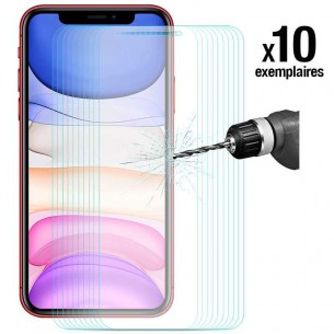 iPhone 11 - Pack ENKAY 10 Protections d'Écran En Verre Trempé 9H 2.5D Bords Incurvés