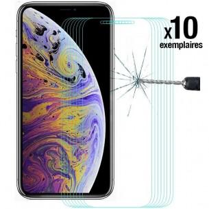 iPhone X & XS - Pack ENKAY 10 Protections d'Écran En Verre Trempé 9H 2.5D Bords Incurvés