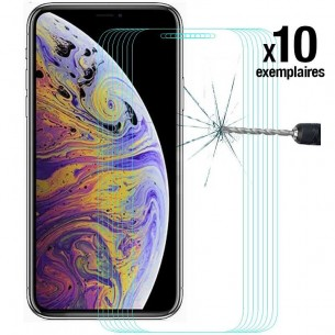 iPhone XS Max - Pack ENKAY 10 Protections d'Écran En Verre Trempé 9H 2.5D Bords Incurvés