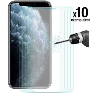 iPhone 11 Pro Max - Pack ENKAY 10 Protections d'Écran En Verre Trempé 9H 2.5D Bords Incurvés