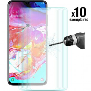 Galaxy A70 - Pack ENKAY 10 Protections d'Écran En Verre Trempé 9H 2.5D Bords Incurvés
