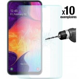 Galaxy A50 - Pack ENKAY 10 Protections d'Écran En Verre Trempé 9H 2.5D Bords Incurvés