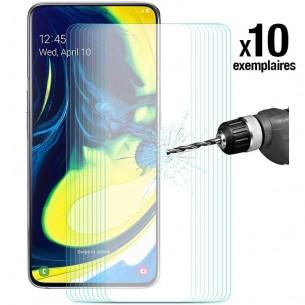Galaxy A80 - Pack ENKAY 10 Protections d'Écran En Verre Trempé 9H 2.5D Bords Incurvés