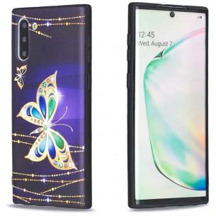Galaxy Note 10 - Coque Silicone avec Motif Papillon