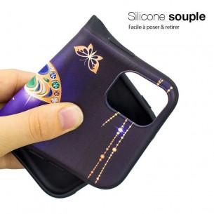 iPhone 11 - Coque Silicone avec Motif Papillon