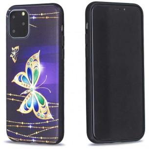 iPhone 11 Pro - Coque Silicone avec Motif Papillon