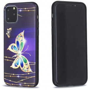 iPhone 11 Pro Max - Coque Silicone avec Motif Papillon