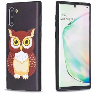Galaxy Note 10 - Coque Silicone avec Motif Chouette