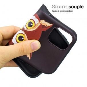 iPhone 11 - Coque Silicone avec Motif Chouette