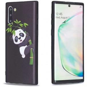 Galaxy Note 10 - Coque Silicone avec Motif Panda sur Bambou