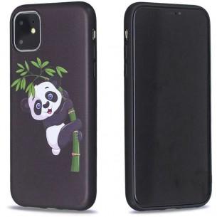 iPhone 11 - Coque Silicone avec Motif Panda sur Bambou