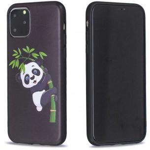 iPhone 11 Pro Max - Coque Silicone avec Motif Panda sur Bambou