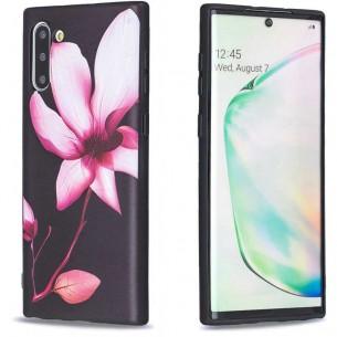 Galaxy Note 10 - Coque Silicone avec Motif Fleur de Lotus