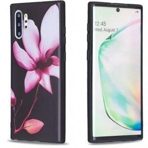 Galaxy Note 10 Plus - Coque Silicone avec Motif Fleur de Lotus