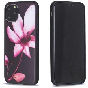 iPhone 11 Pro Max - Coque Silicone avec Motif Fleur de Lotus