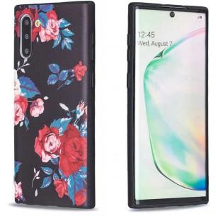 Galaxy Note 10 - Coque Silicone avec Motif Bouquet de Roses
