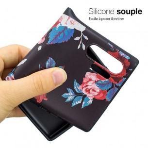 Galaxy Note 10 Plus - Coque Silicone avec Motif Bouquet de Roses
