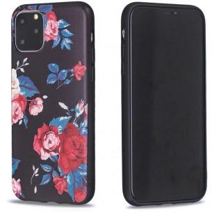 iPhone 11 Pro Max - Coque Silicone avec Motif Bouquet de Roses