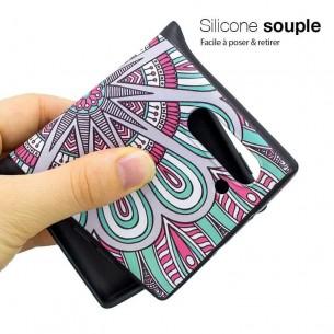 Galaxy Note 10 - Coque Silicone avec Motif Rosace
