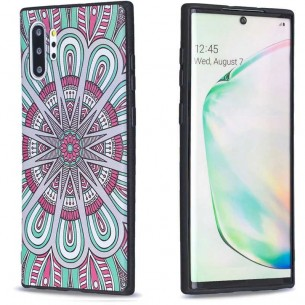 Galaxy Note 10 Plus - Coque Silicone avec Motif Rosace