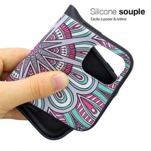 iPhone 11 Pro Max - Coque Silicone avec Motif Rosace