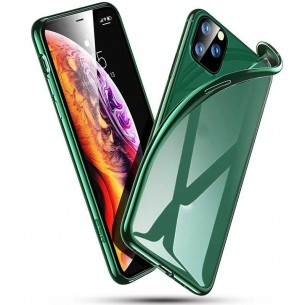 iPhone 11 Pro Max - Coque ESR Essential Crown Series - Silicone Transparent Contour Couleur