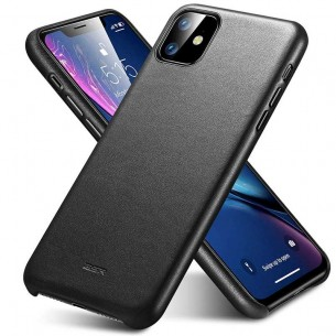 iPhone 11 - Coque ESR Metro Premium Leather Series - Revêtement Cuir Véritable