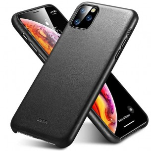 iPhone 11 Pro Max - Coque ESR Metro Premium Leather Series - Revêtement Cuir Véritable