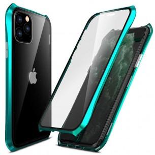 iPhone 11 Pro Max - Coque Intégrale Magnétique - Cadre Métal & Verre Trempé 9H Recto/Verso