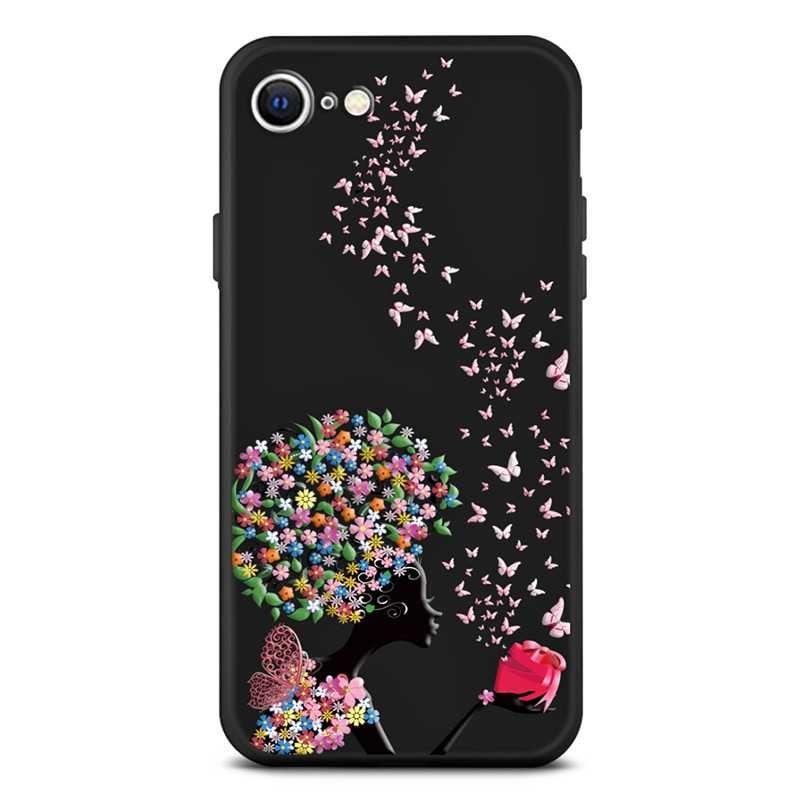 iphone se coque silicone avec motif corolles